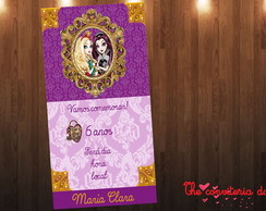 convite Scrap ever after high