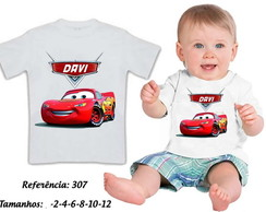 Camiseta Infatil Carros Disney