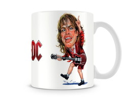 Caneca ACDC Angus Young Caricatura