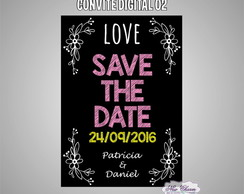 Chalkboard - Save the Date Digital