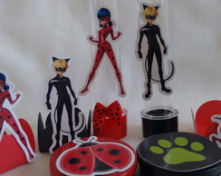 Kit Personalizados Lady Bug e Cat Noir