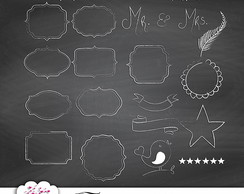 Kit digital Chalkboard Elementos n°1