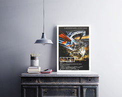 "Placa decorativa ""Filme Superman II"""
