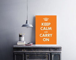 "Placa decorativa ""Keep Calm And Carry On"