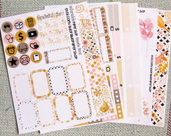 Kit de Adesivos p/ Planner - GENTLE BIRD