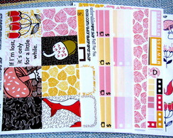 Kit de Adesivos p/ Planner -FALL FOR FOX