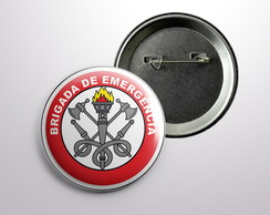 Botton Brigada Alfinete Modelo 01 - 55mm