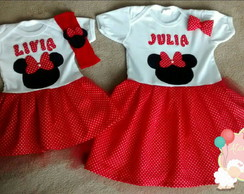 Body Vestido Minnie!