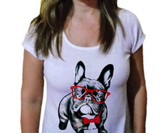 Camiseta Feminina Pets Pug Black fashion