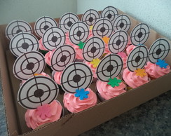 Cupcakes - Alvo / Paintball