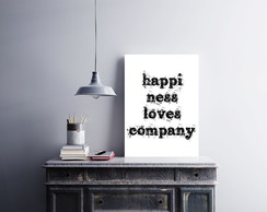 "Placa decorativa ""Happiness loves"""