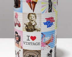 Lata Decorativa I Love Vintage