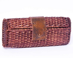Clutch de palha vime box