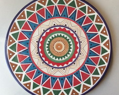Prato mandala colorida
