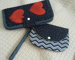 carteira e mini-clutch