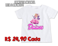 Camiseta Infantil Barbie Rock Star 1