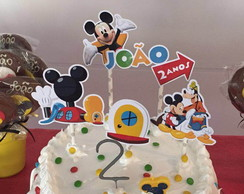 Topper / Topo de Bolo Casa do Mickey