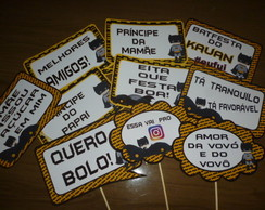 Placas Divertidas Batman Mod2 com palito