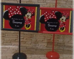 Mini banner de mesa Minnie