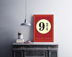 "Placa decorativa ""Harry Potter 9 3/4"""