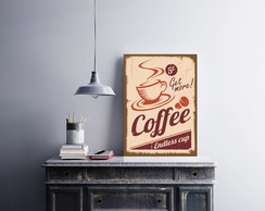 "Placa decorativa ""Coffee Endless Cup"""