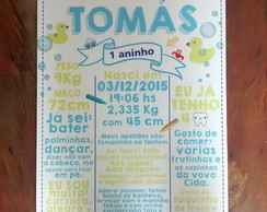 Placa Tipo Chalkboard Infantil PATO