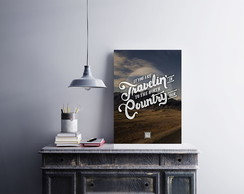 "Placa decorativa ""Travelin Country"""