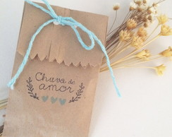 CHUVA DE ARROZ - Saquinhos papel CRAFT