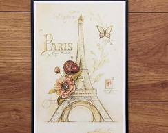 Placa Decorativa Paris Vintage - 20x30