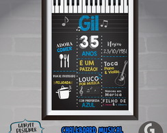 Chalkboard Musical Adulto- Arte Digital