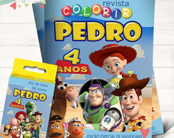 Kit Revista + Giz Toy Story