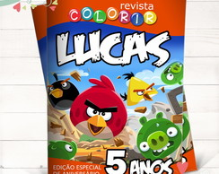 Revista Colorir Angry Birds