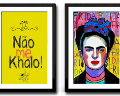 Kit Frida Khalo-2 quadros-30x40-paspatur