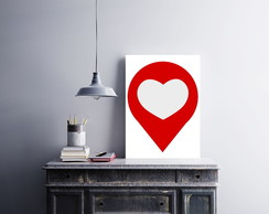 "Placa decorativa ""Search Love"""