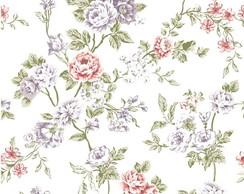 papel de parede flores fundo branco