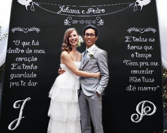 Chalkboard para casamento - Painel