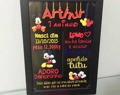 Quadro Chalkboard do Mickey
