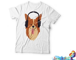 Camiseta Dog Headphone
