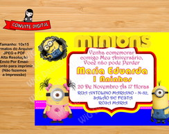 Convite Digital Minions Favorito