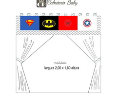 Cortina quarto chevron super heroi