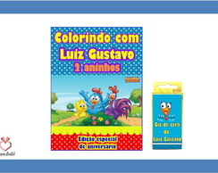 Mini kit de Colorir Galinha Pintadinha