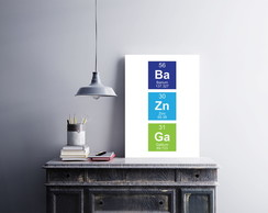 "Placa decorativa ""Ba Zn Ga (Bazinga)"""