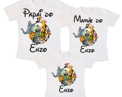 Kit 3 Camiseta Animais Safari