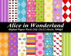 Papel digital - Alice in wonderland 2