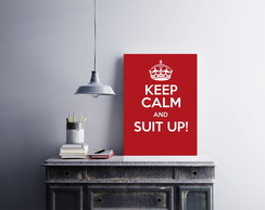 "Placa decorativa ""Keep Calm And Suit Up"""
