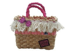 Bolsa de Palha P - Barbie brown