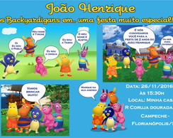 Convite Digital Backyardigans Gibi