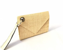 Clutch de palha natural Safari