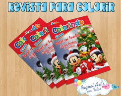 Revista de colorir natal do mickey