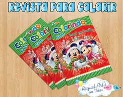 Revista de colorir natal do mickey 2